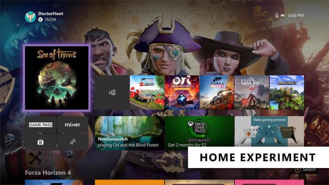 Xbox Dashboard 19H2