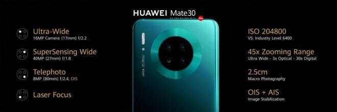 Huawei Mate 30 & Mate 30 Lite