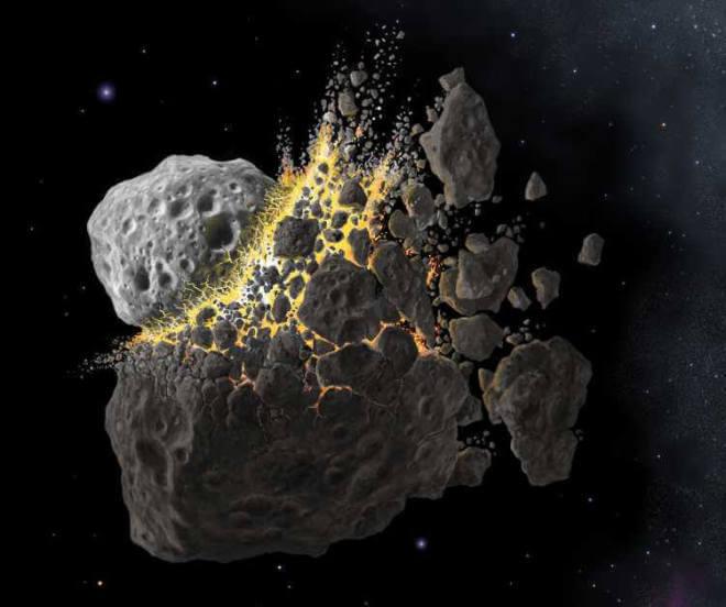 SWRI: Asteroidenkollision