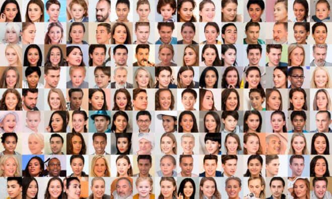 KI-generierte Porträtfotos