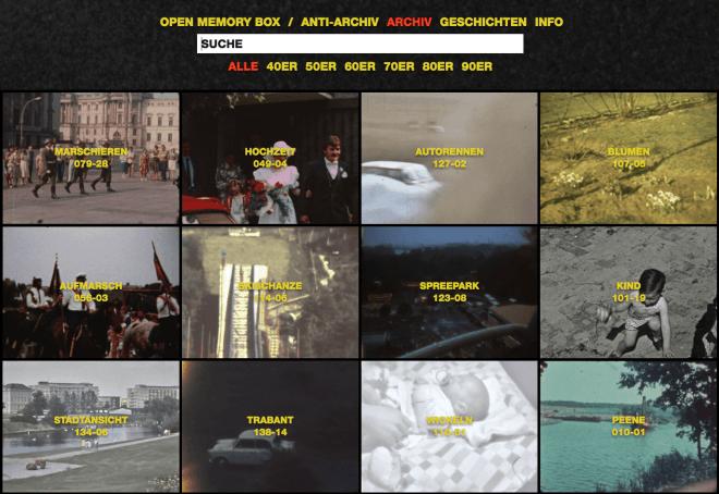 Open Memory Bock: DDR Heimfilm-Archiv