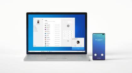 Calls-Funktion der Your Phone-App