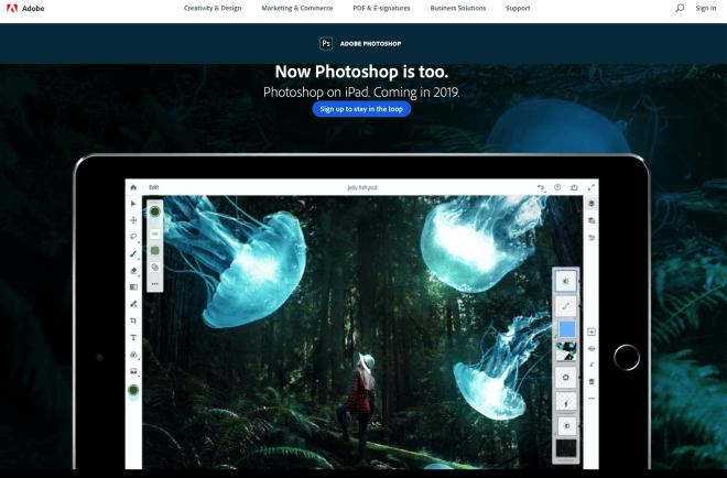 Adobe Photoshop für iPad und iPad Pro