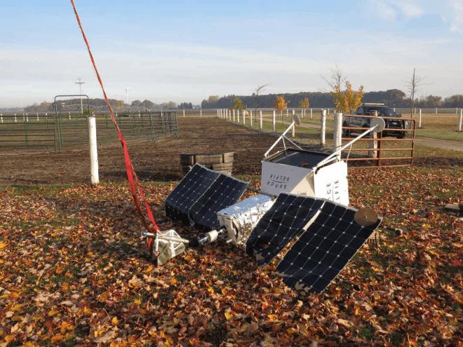 """Samsung SpaceSelfie nach der """"Landung"""""""