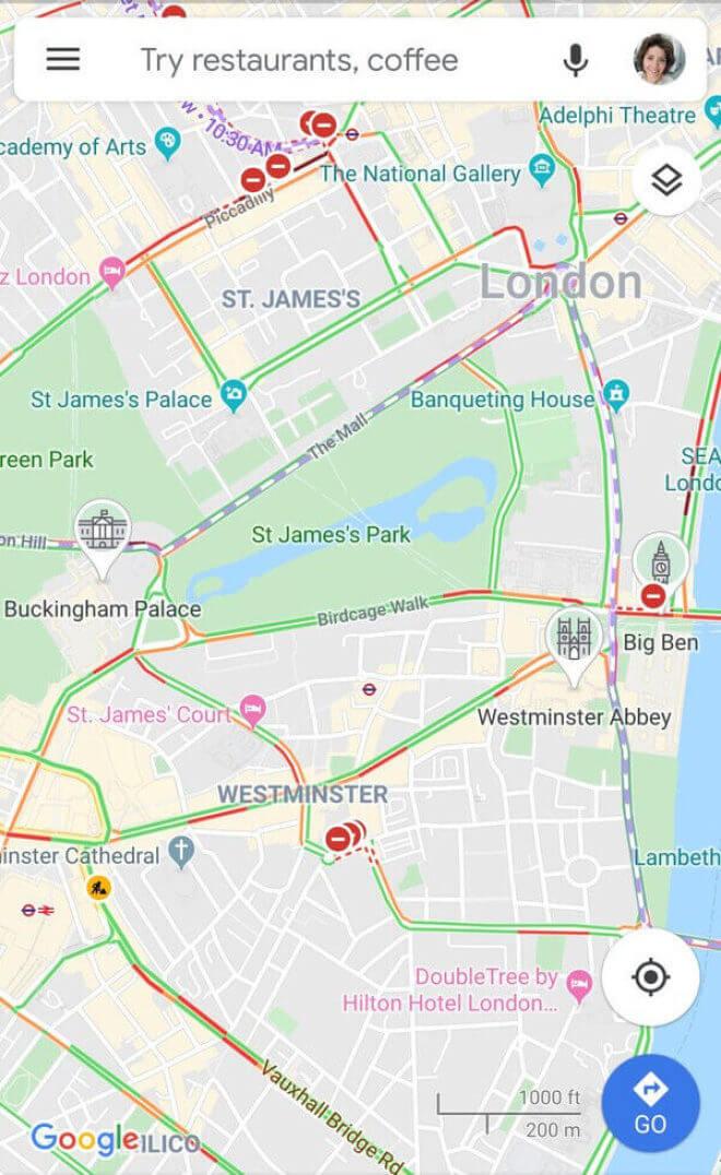 Google Maps: Sehenswürdigkeiten-Icons