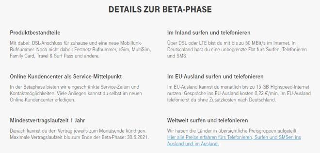 Telekom MagentaEins Beta