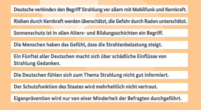 Studie des BfS: Was denkt Deutschland über Strahlung?