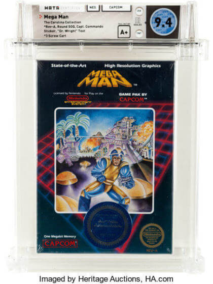 """Mega Man [""""Dr. Wright"""" First Release] NES 1987 (Heritage Auctions)"""