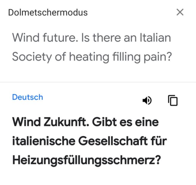 Google Assistent Übersetzer-Modus im WinFuture-Test