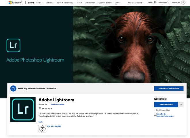 Adobe Lightroom Windows 10