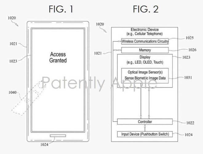 Apple-Patent für Unter-Display-Sensor