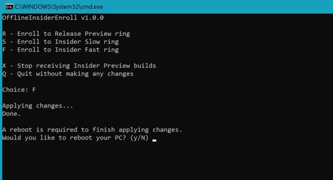 Windows 10 Insider-Skript