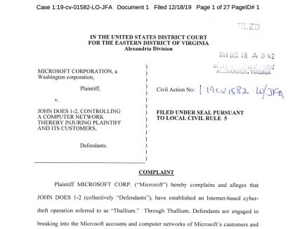 Klage gegen Thallium