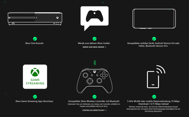Xbox One Konsolen-Streaming
