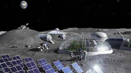 Sauerstoff-Fabrik für den Mond (ESA)