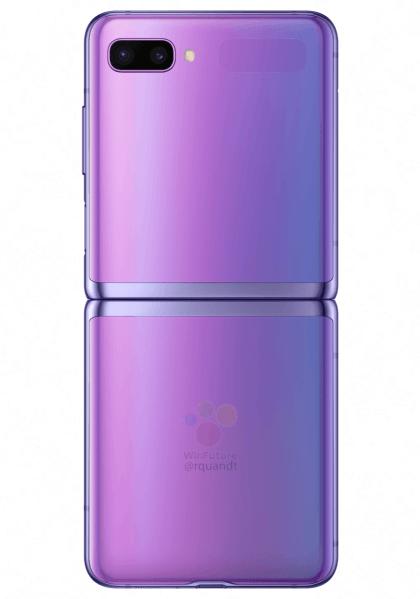 Tampilan belakang Samsung Galaxy Z Flip.