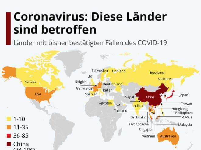 Coronavirus: Diese Länder sind betroffen