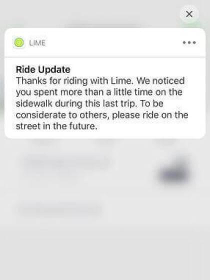 Lime: Bürgersteig-Erkennung