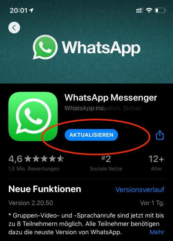 WhatsApp Gruppenchat-Leak