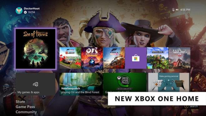 Xbox One Dashboard 2020