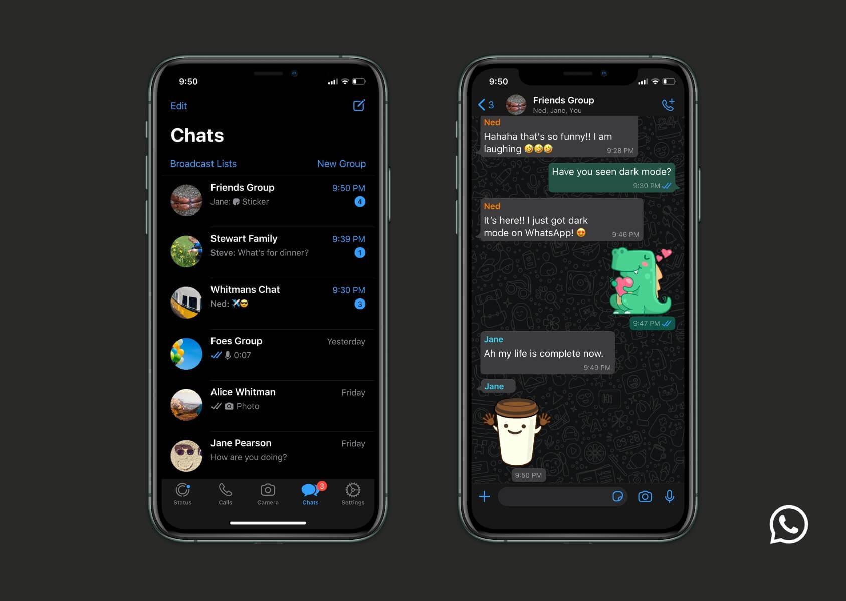 WhatsApp startet Dark Mode für alle iOS  und Android Nutzer   so ...