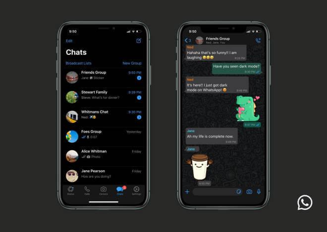 Dark Mode für WhatsApp Web und WhatsApp Desktop