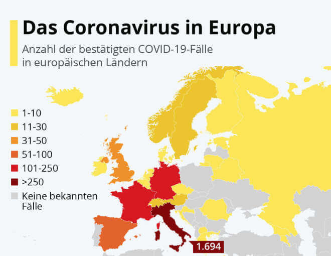 Das Coronavirus in Europa