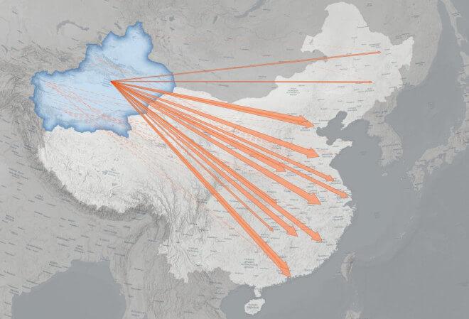 Umsiedlung von Zwangsarbeitern in China (ASPI)