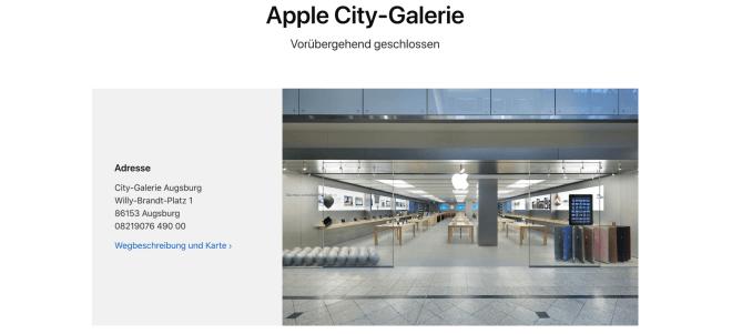 Apple schließt alle Apple Stores