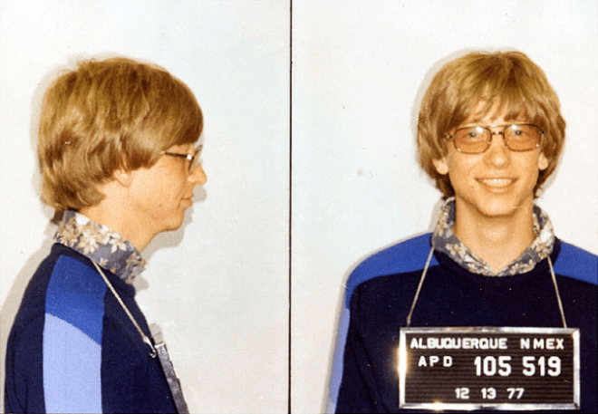 Bill Gates Polizei Mugshot 1977