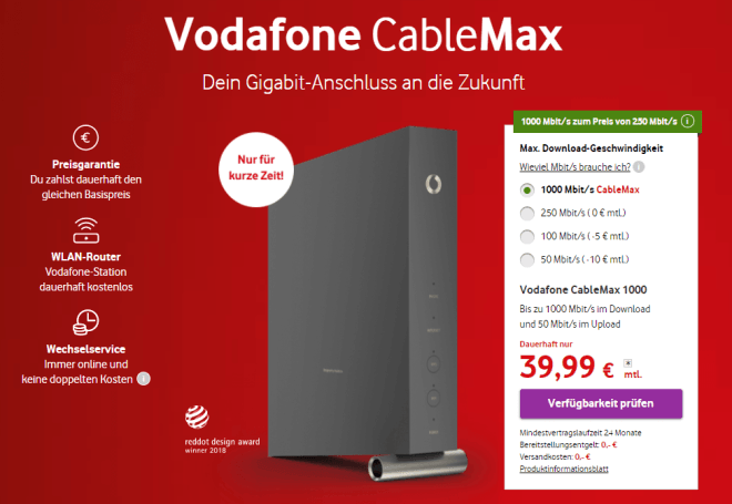Vodafone Cablemax 500