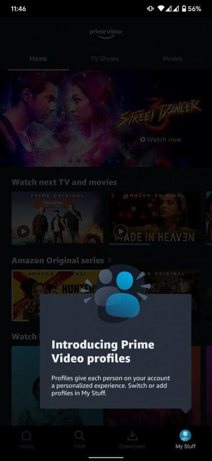 Amazon Prime Video Nutzer-Profile