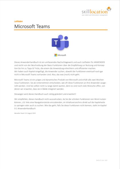 Leitfaden Microsoft Teams