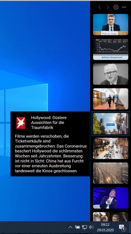 Microsoft Projekt News Bar