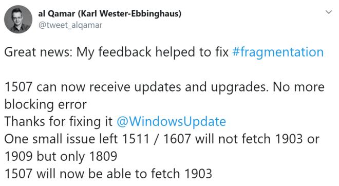 Windows 10 1507 Update