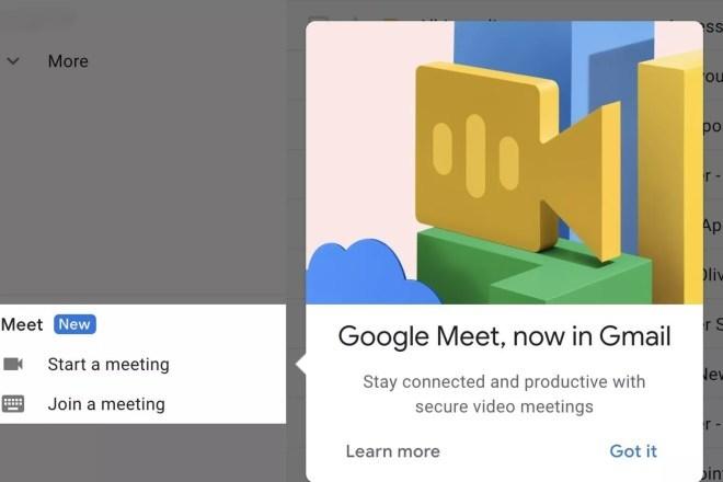 Gmail x Google Meet