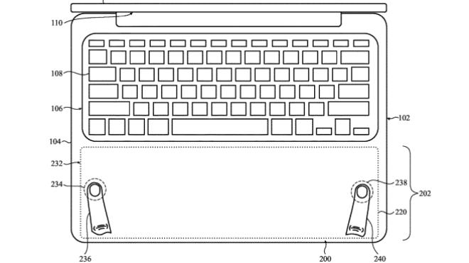 Apple Patent: XXL-Touchpad für MacBook Pro