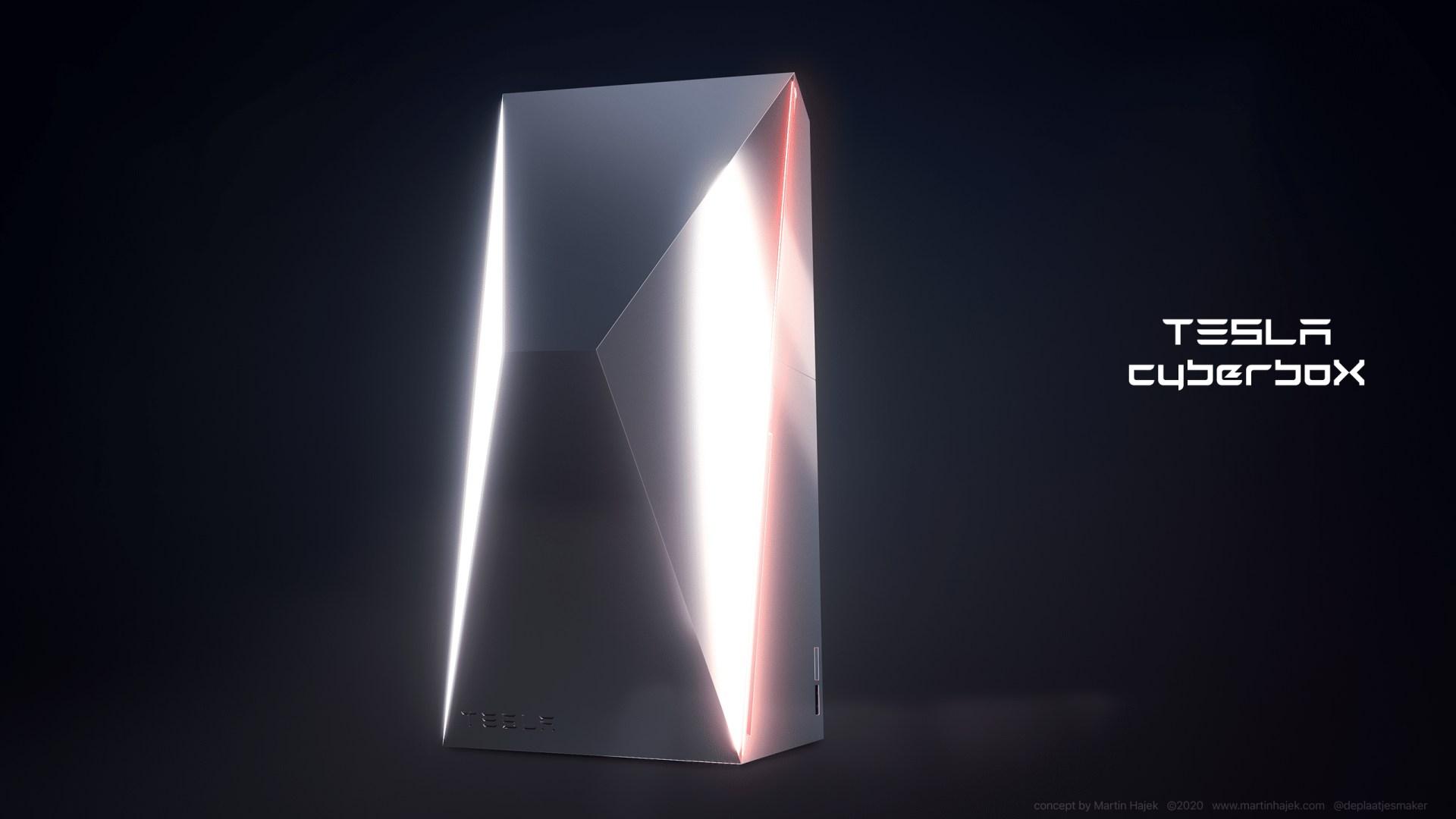 Tesla Cyberbox: Design-Konzept von Martin Hajek