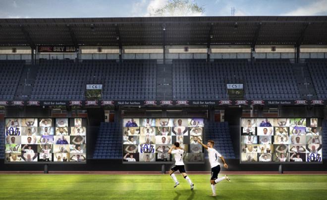 AGF Aarhus Virtuelles Stadion per Zoom
