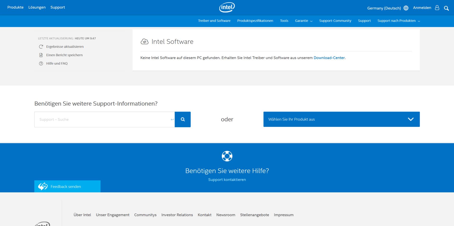 Intel Treiber- und Support-Assistent