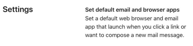 iOS 14: Default Browser