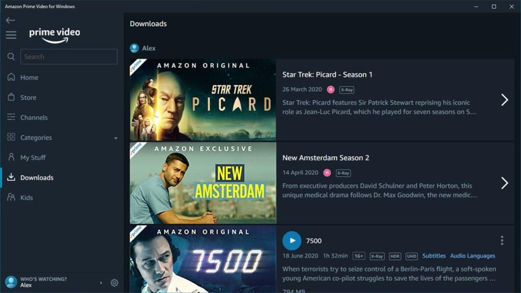 Amazon Prime Video App für Windows