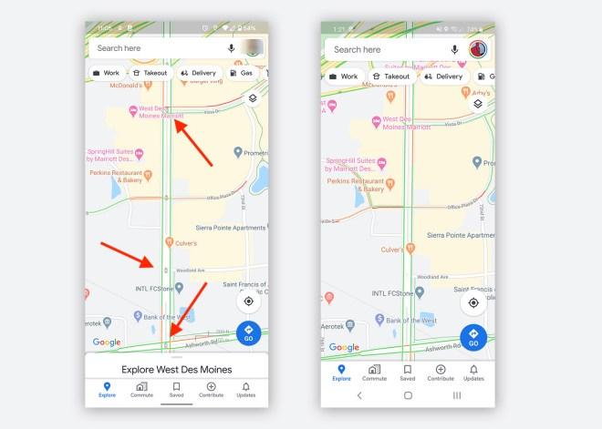 Google Maps Ampel-Anzeige