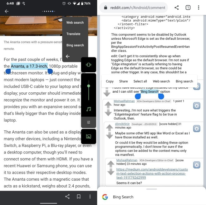Bing-Integration in Android