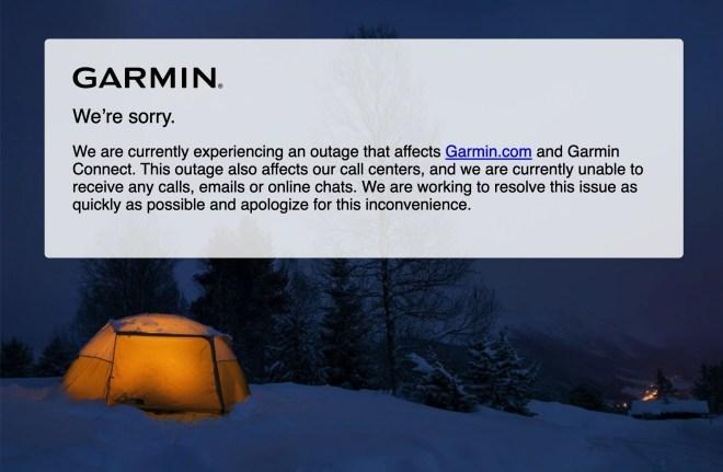 Garmin-Dienste offline