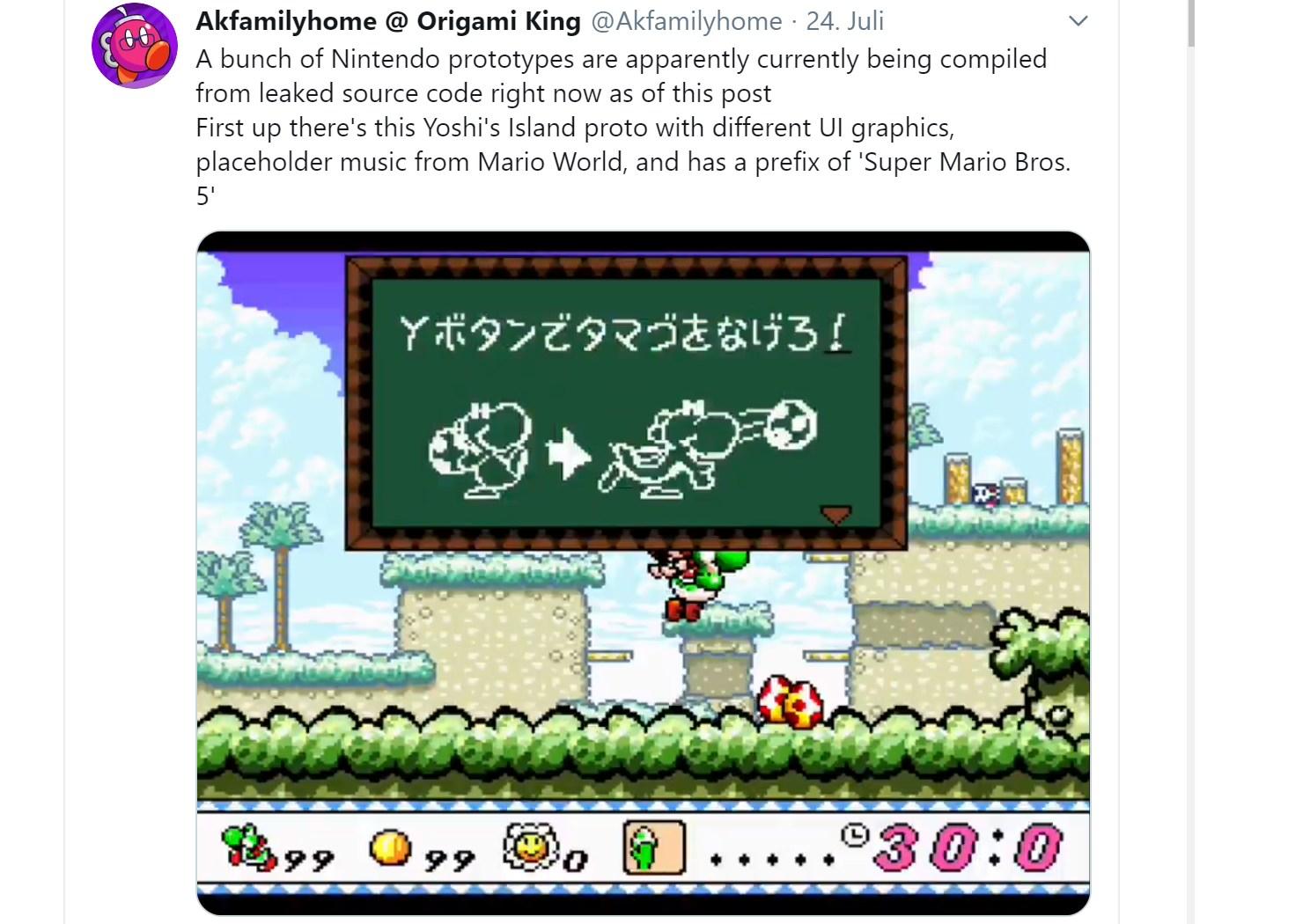 Nintendo Leak