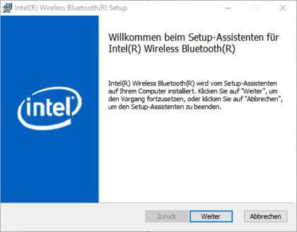 Intel Wireless Bluetooth für Windows 10