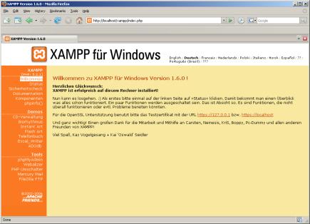 xampp 1.7.0