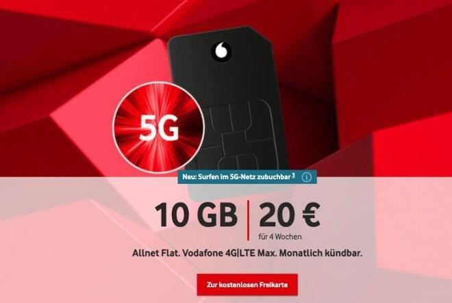 Vodafone Callya-Tarife (September 2020)