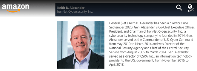 Keith Alexander bei Amazon